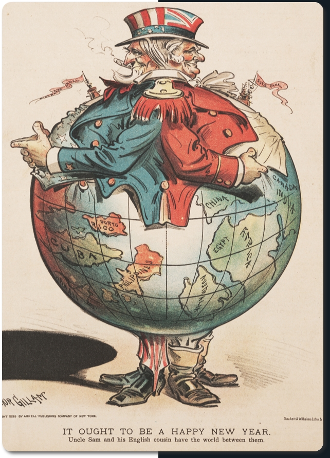 Image result for caricature USA versus world