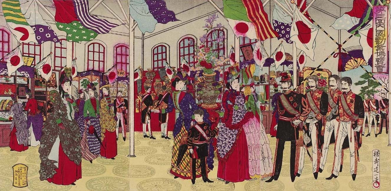 """""""The Third National Industrial Exposition """" by Watanabe Nobukazu, March, 1890"""